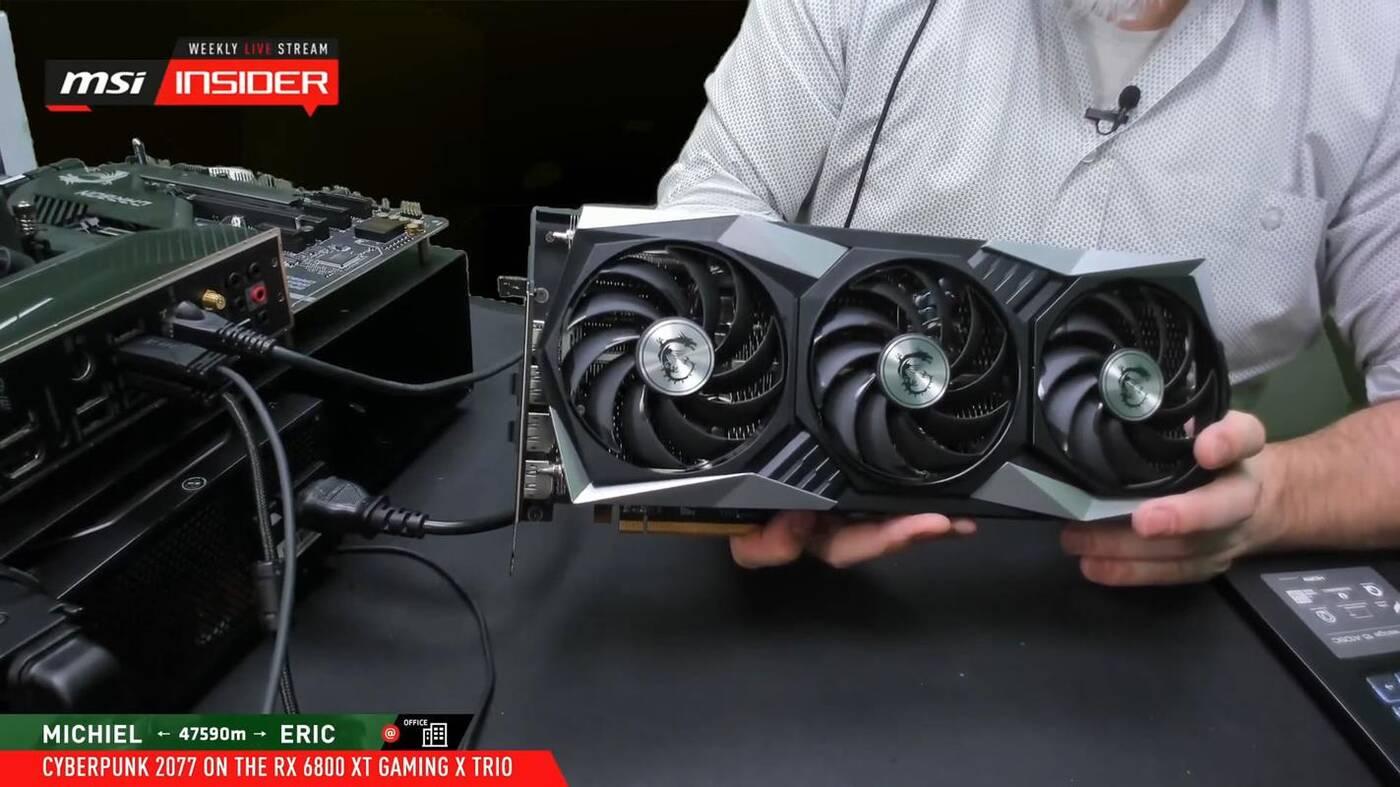 Radeon RX 6800 XT GAMING X TRIO MSI, MSI Radeon RX 6800 XT GAMING X TRIO, Radeon RX 6800 XT GAMING X TRIO, Radeon RX 6800 XT