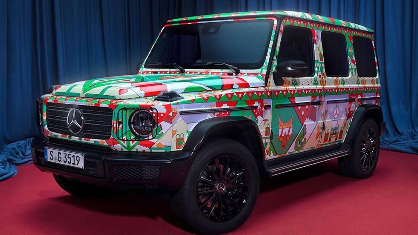 Spójrzcie na świąteczne samochody Mercedesa
