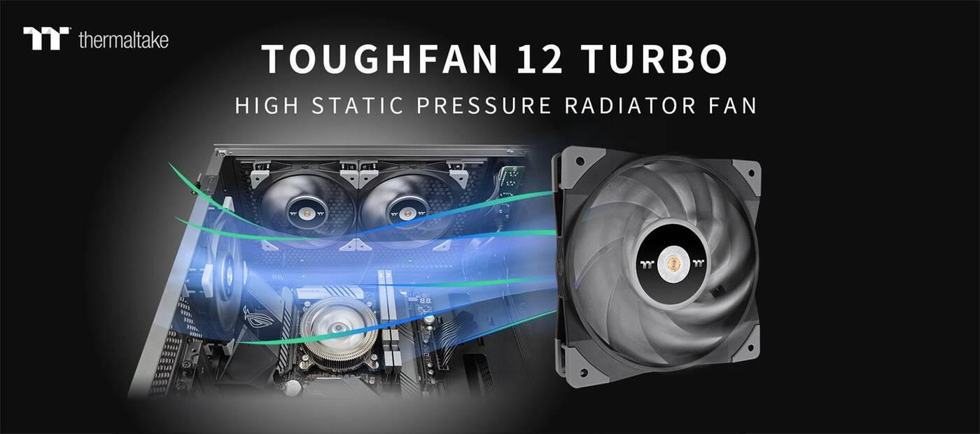 TOUGHFAN 12 Turbo nowym wentylatorem Thermaltake