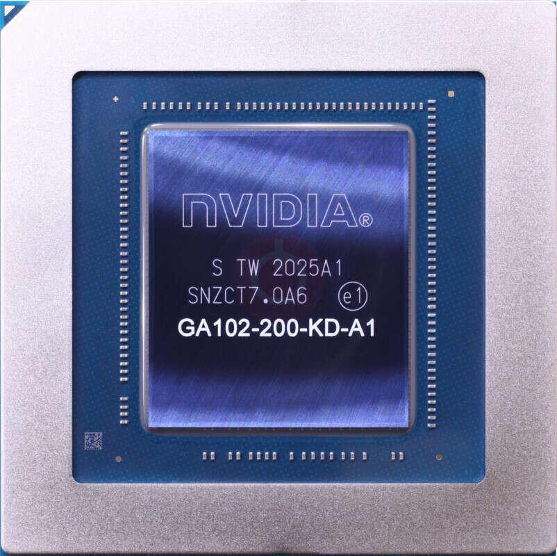 Wnętrze rdzenia GeForce RTX 3090, rdzeń RTX 3090, wnętrze rdzenia graficznego, GPU podczerwień