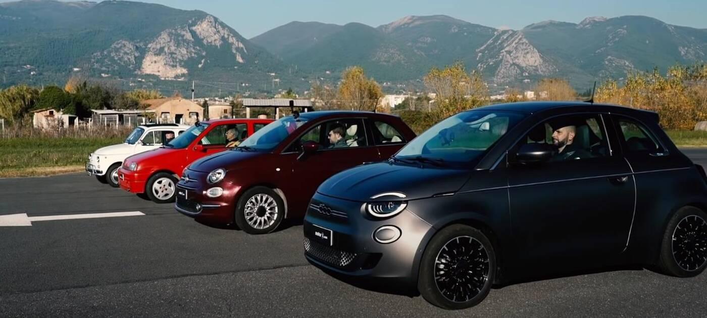 Wielki wyścig czterech generacji Fiatów 500