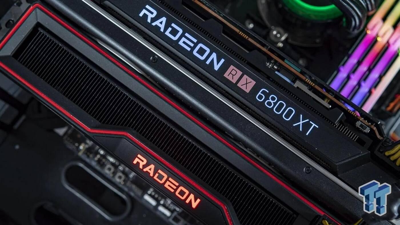 Dwie karty Radeon RX 6800 XT przetestowane w grach