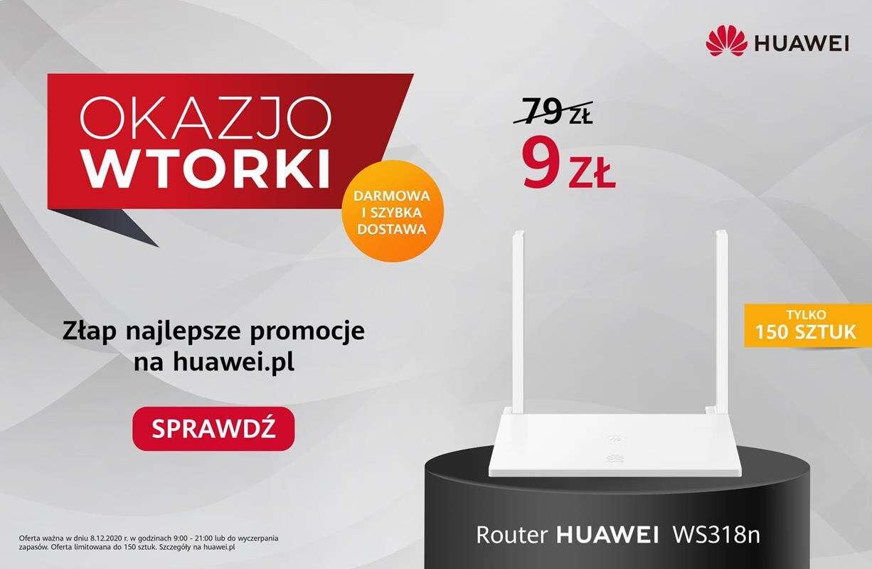 Zgarnij router Huaweia za 9 złotych! OkazjoWTORKI w pełni