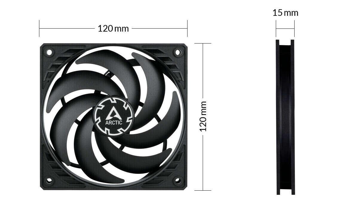 specyfikacja Arctic P12 Slim PWM PST