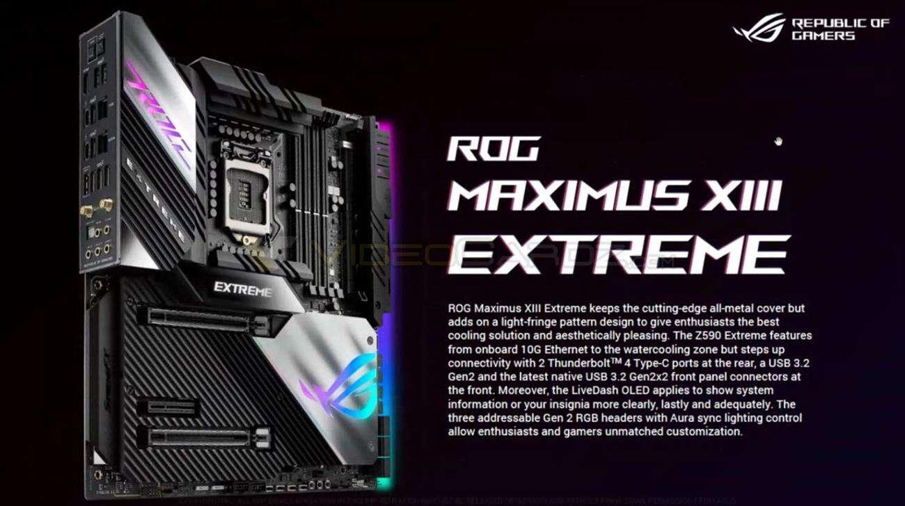Asus Z590 ROG Maximus XIII