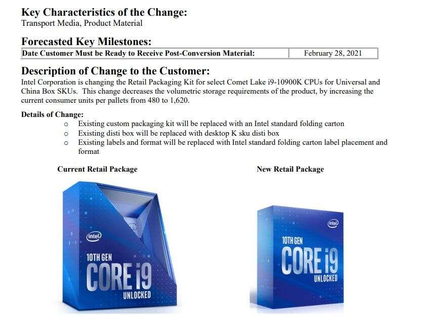 intelCore i9-10900K, opakowanie Core i9-10900K