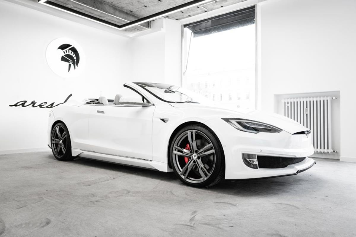 kabriolet z Modelu S Tesli, kabriolet Model S