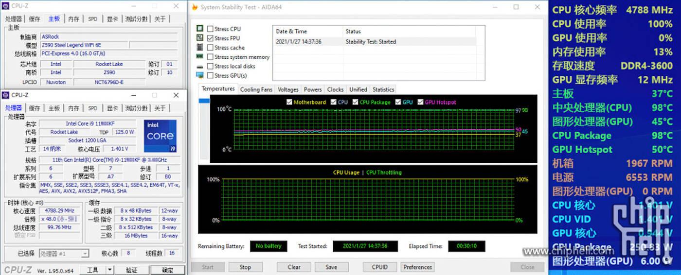 Intel Core i9-11900KF niesamowicie grzeje się pod obciążeniem