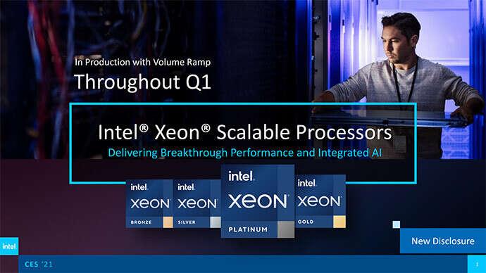 Kolejne 10 nm procesory Intela, Intel Xeon trzeciej generacji, 10 nm procesory Intela