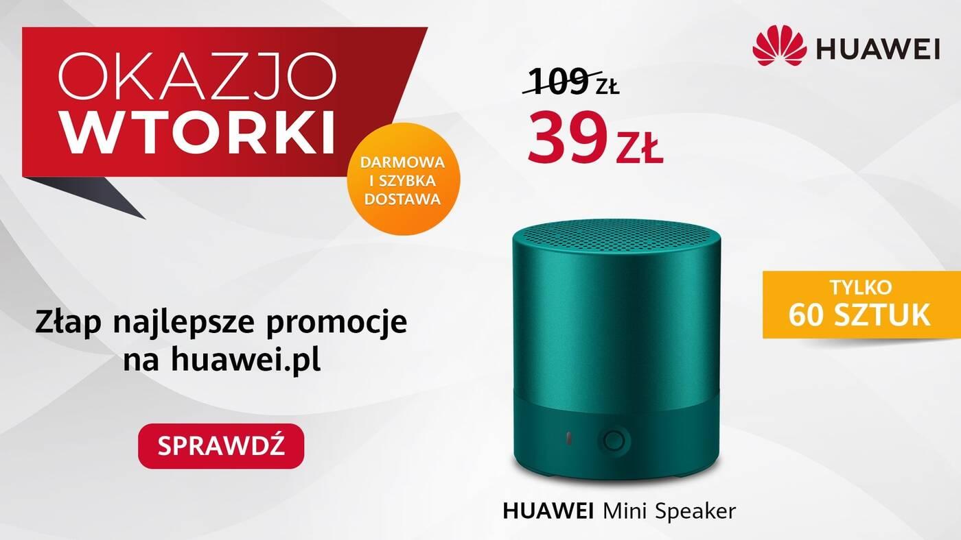 Huawei Mini Speaker, głośnik Huawei Mini Speaker,OkazjoWTORKI tną ceny
