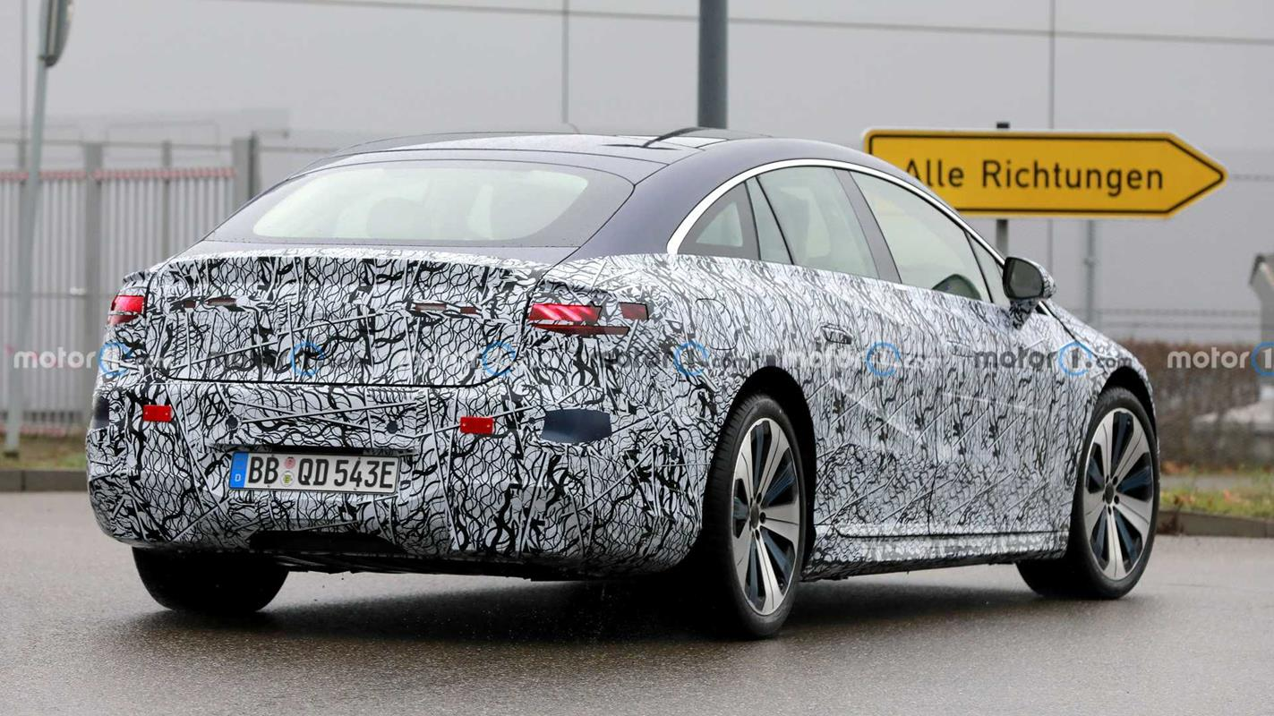 Mercedes EQS, zdjęcia Mercedes EQS, Mercedes EQS wyszpiegowany, zdjęcia szpiegowskie Mercedesa EQS,