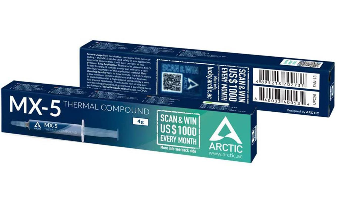 Nowa pasta termoprzewodząca Arctic MX-5, pasta termoprzewodząca Arctic MX-5, pasta Arctic MX-5, Arctic MX-5