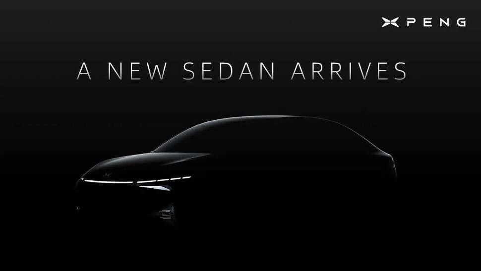 Nowy elektryczny sedan Xpeng, Nowy elektryczny sedan Xpeng zwiastun, zwiastun sedana Xpeng,