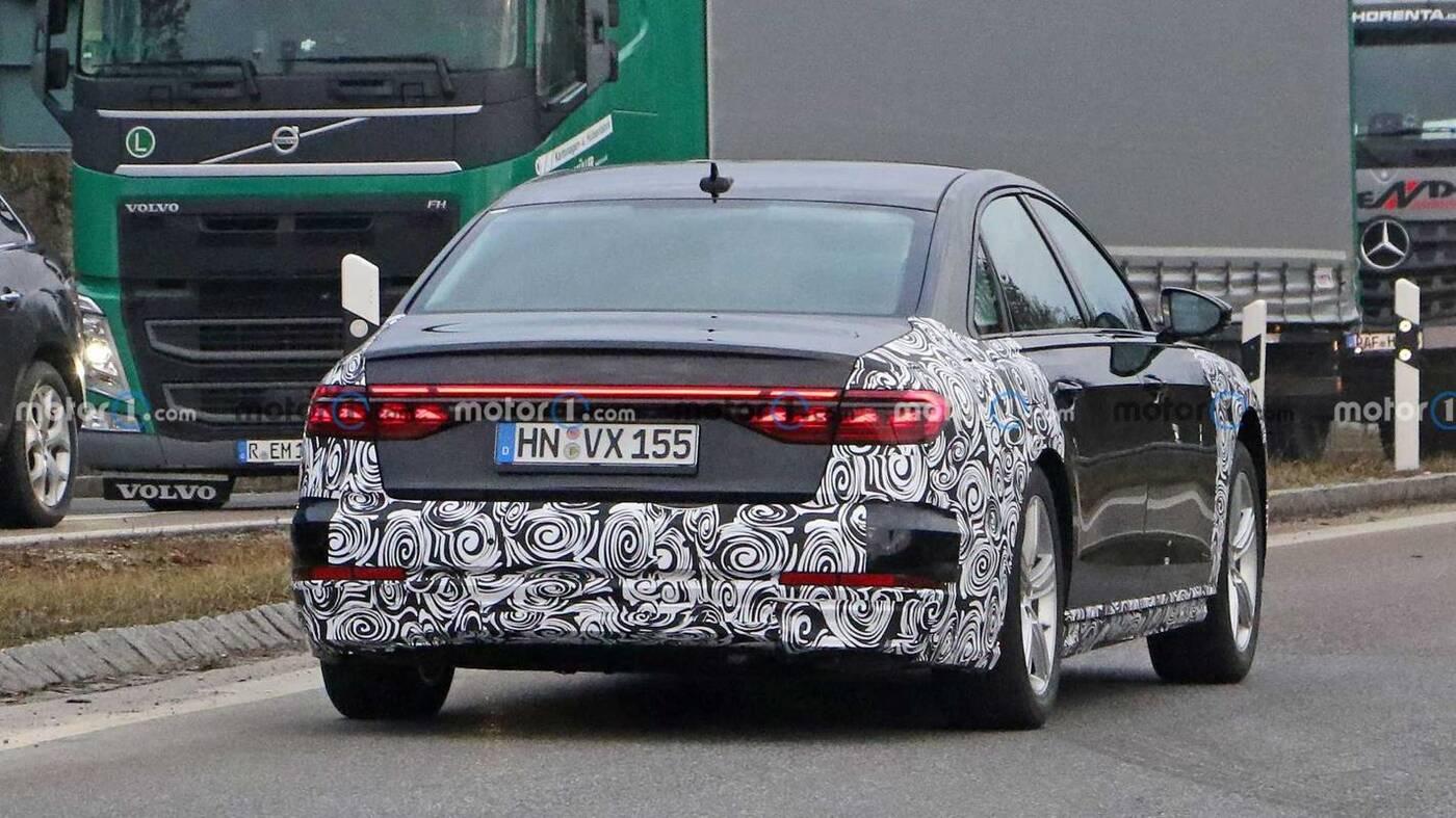 Odświeżone Audi A8 2022 wyszpiegowane po raz pierwszy