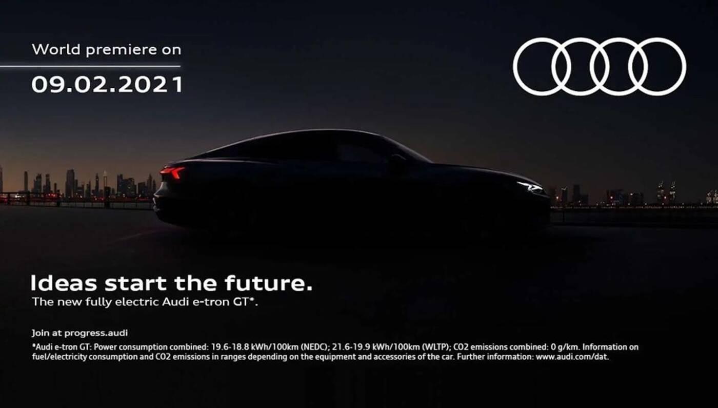 Podejrzyjcie sylwetkę Audi E-Tron GT na zwiastunie