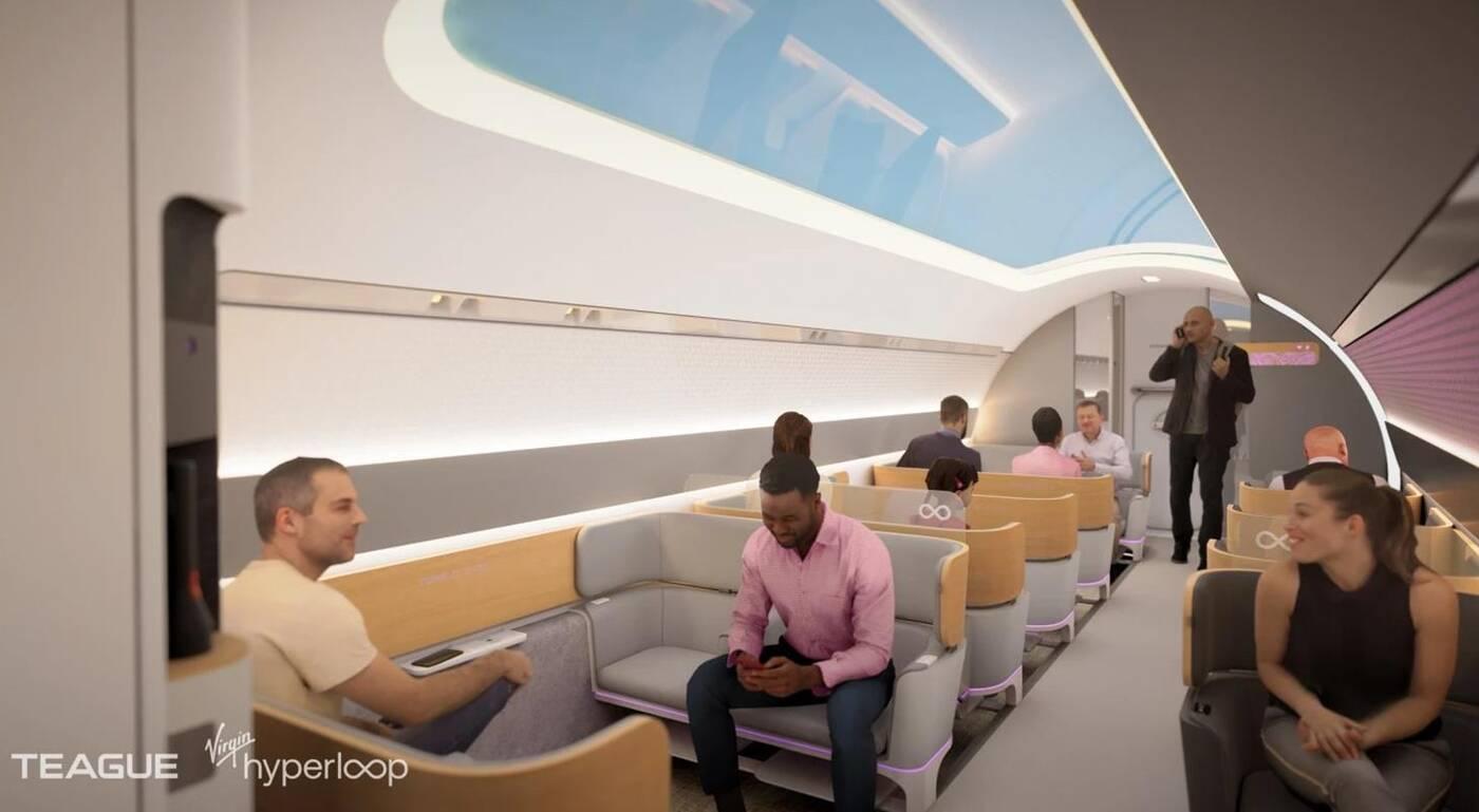 Przyszłość transportu, nowe grafiki Virgin Hyperloop