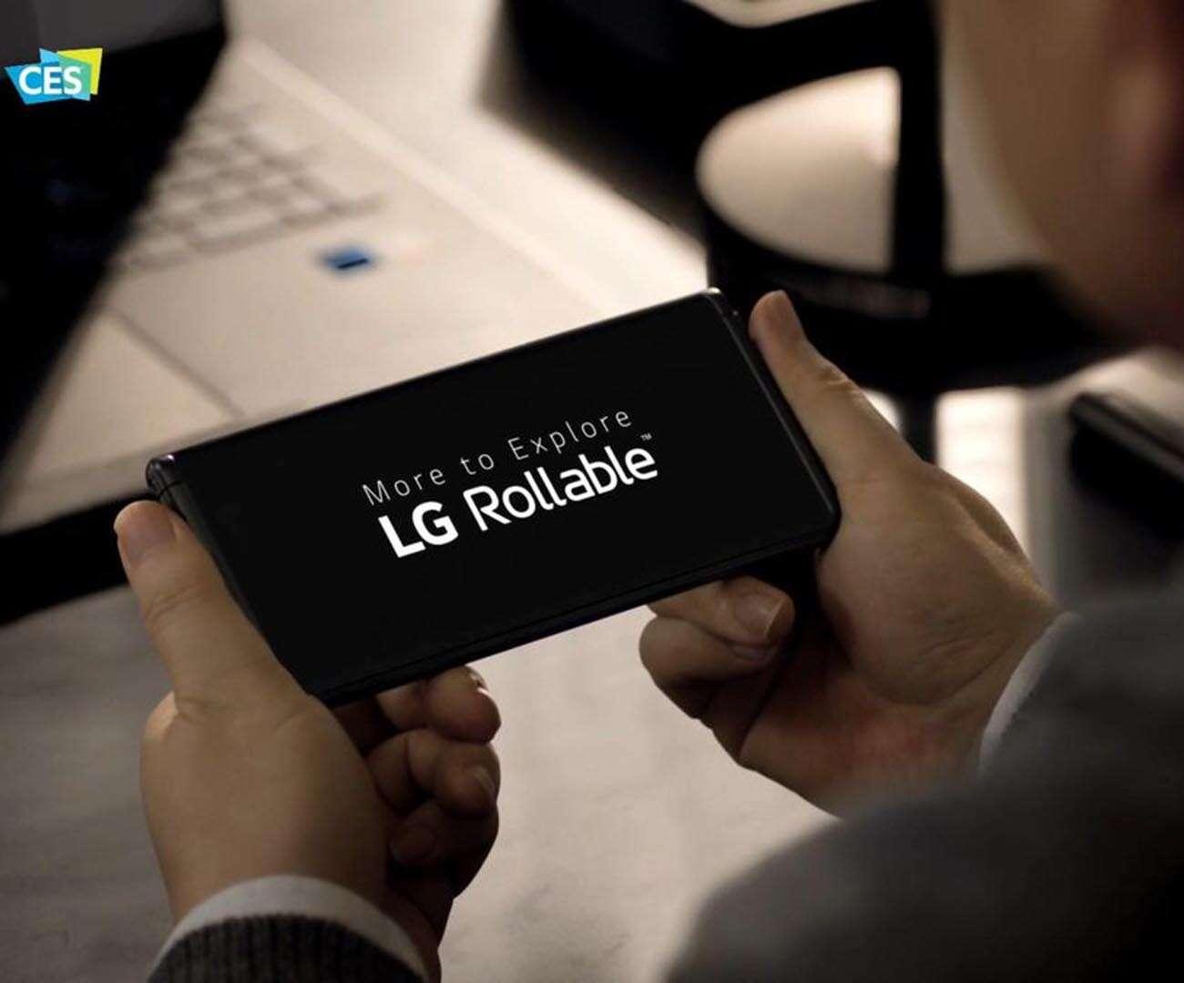 rolowany smartfon lg