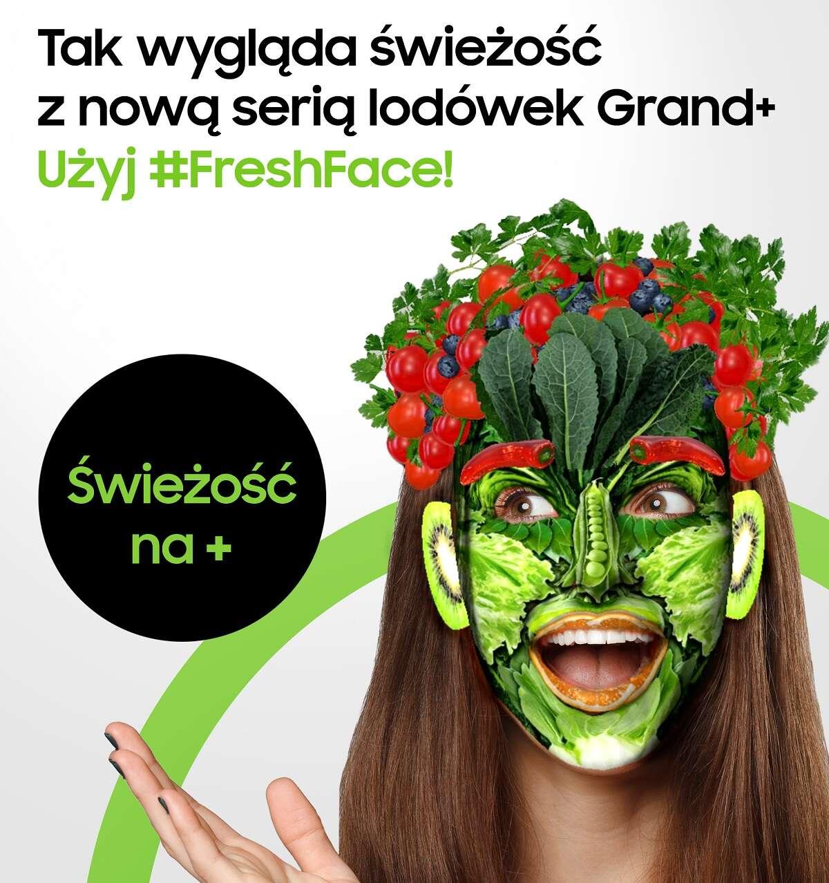 Samsung #FreshFace czyli zrób selfie i zmień się w warzywo