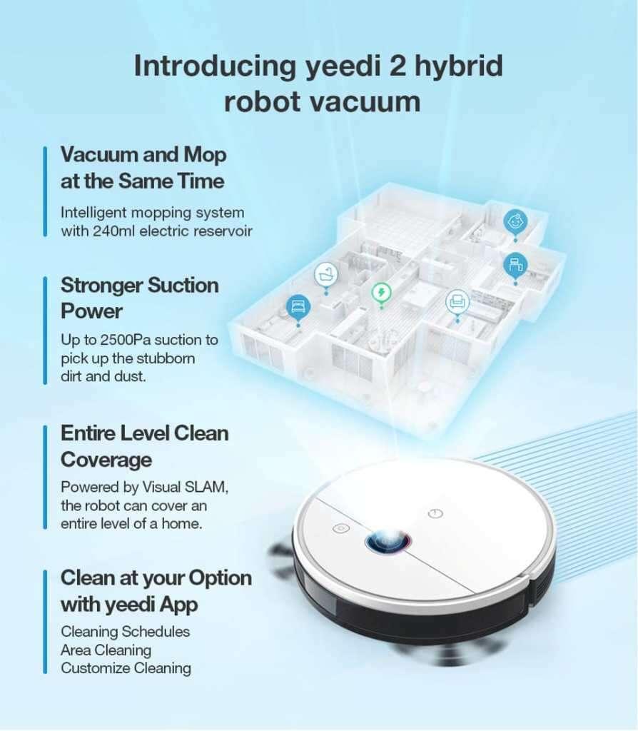 specyfikacja Yeedi 2 Hybrid, cena Yeedi 2 Hybrid