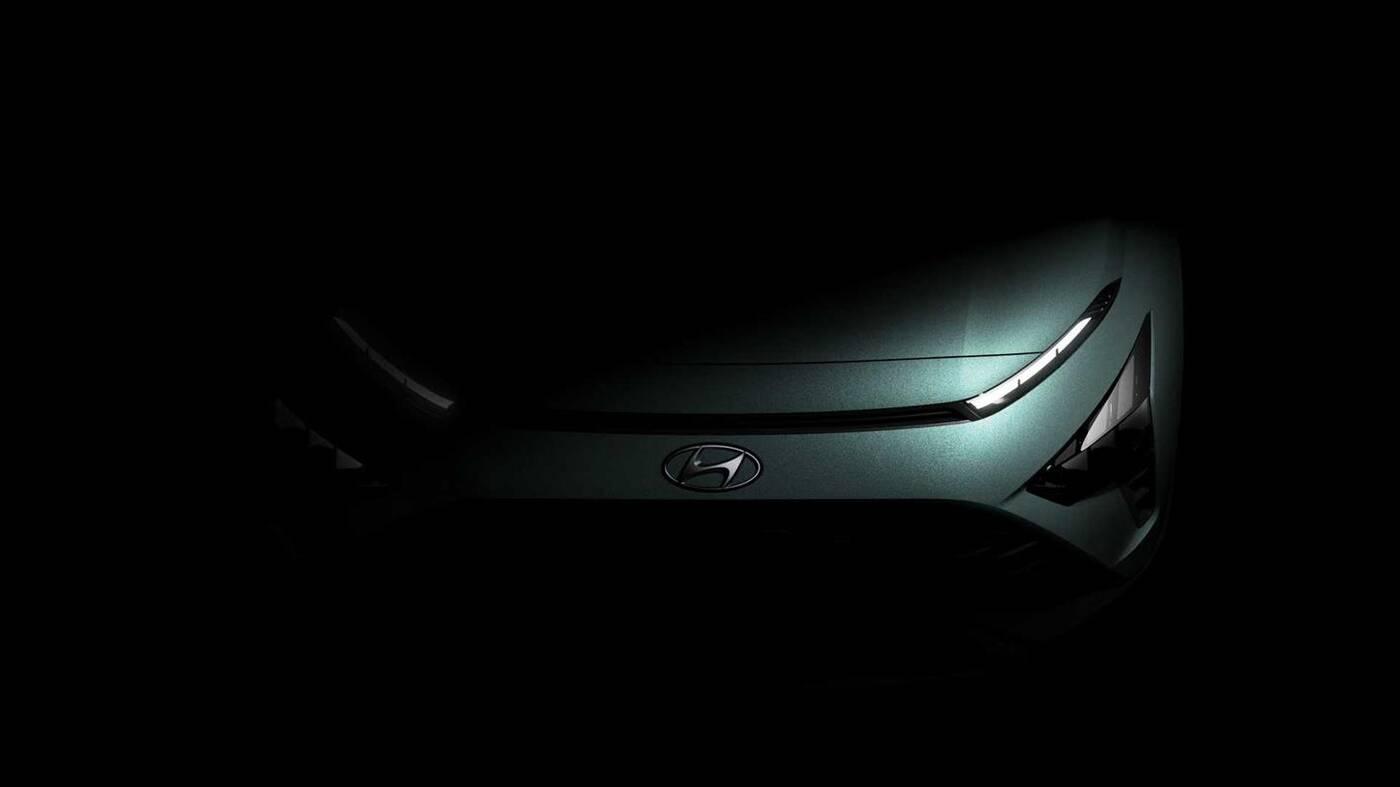 Zwiastun Hyundai Bayon 2021, zdjęcia małego crossovera, Hyundai Bayon 2021, zwiastuny Hyundai Bayon 2021,