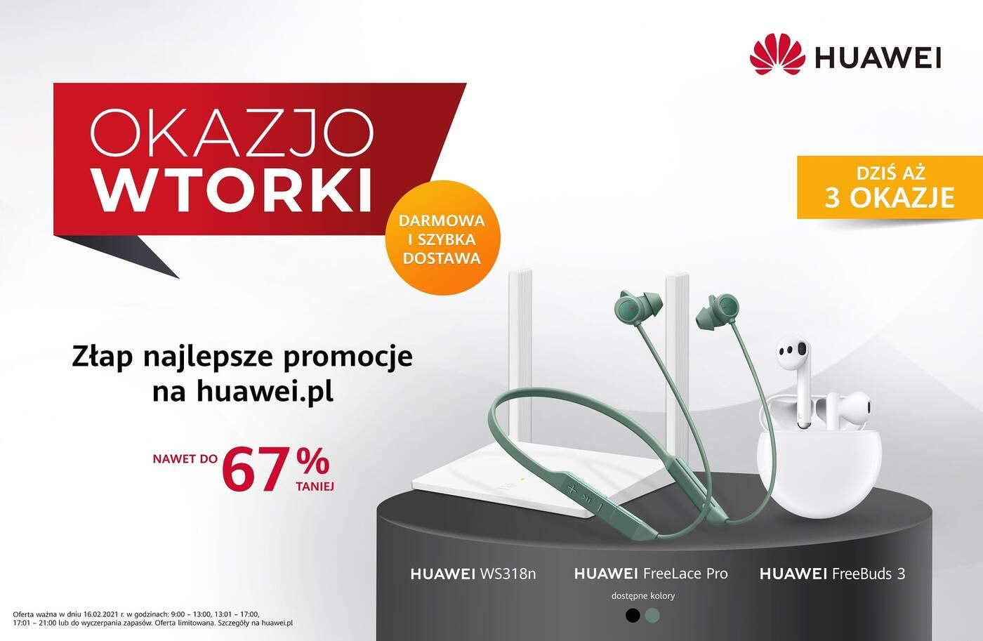 Aż trzy promocje na dzisiejszy OkazjoWTOREK Huawei