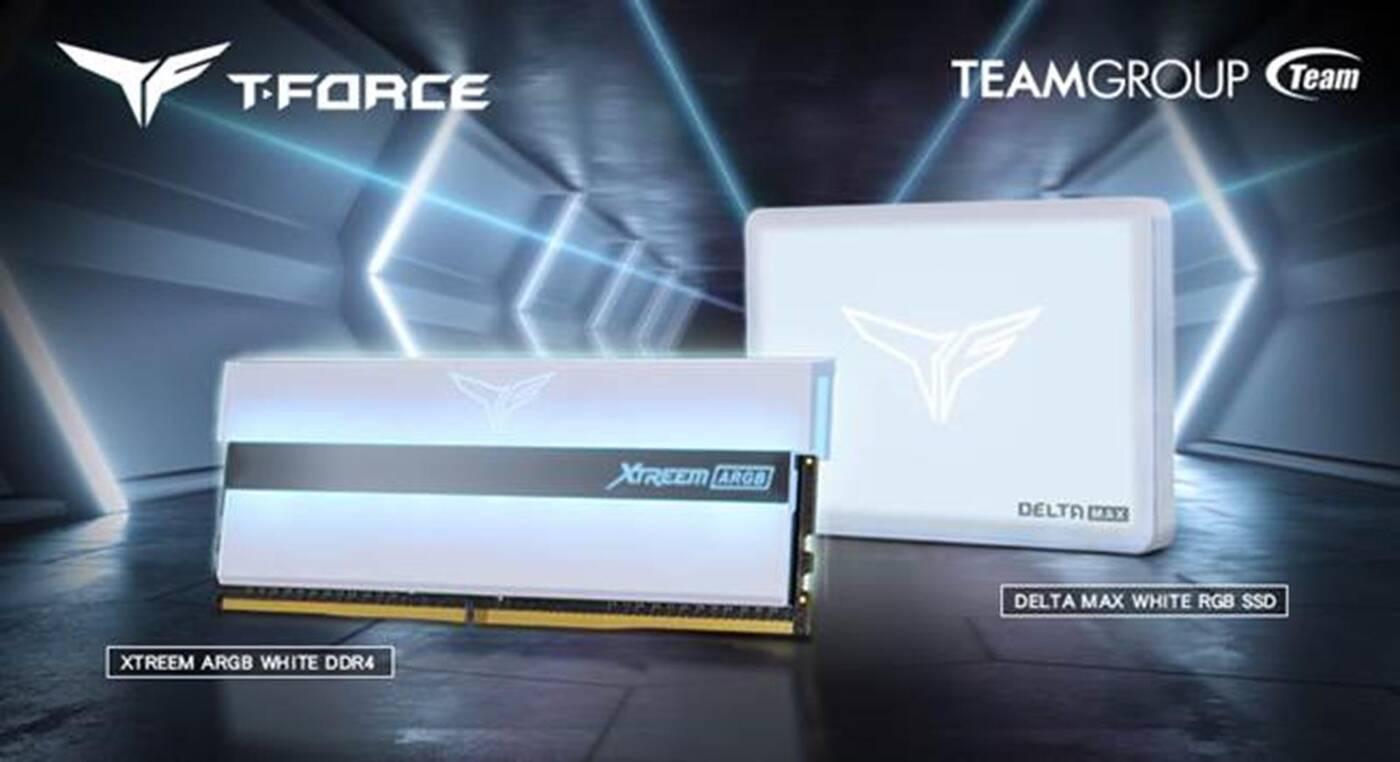 Białe wersje DDR4 XTREEM i SSD Delta Max od TeamGroup