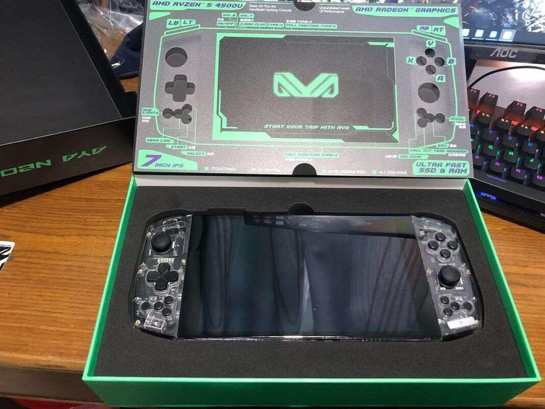 Zasilany sprzętem AMD handheld AYA Neo, handheld AYA Neo, AMD handheld AYA Neo