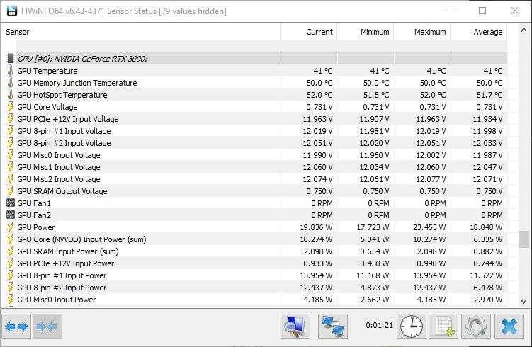 HWiNFO pokaże temperaturę HotSpot Nvidia Ampere