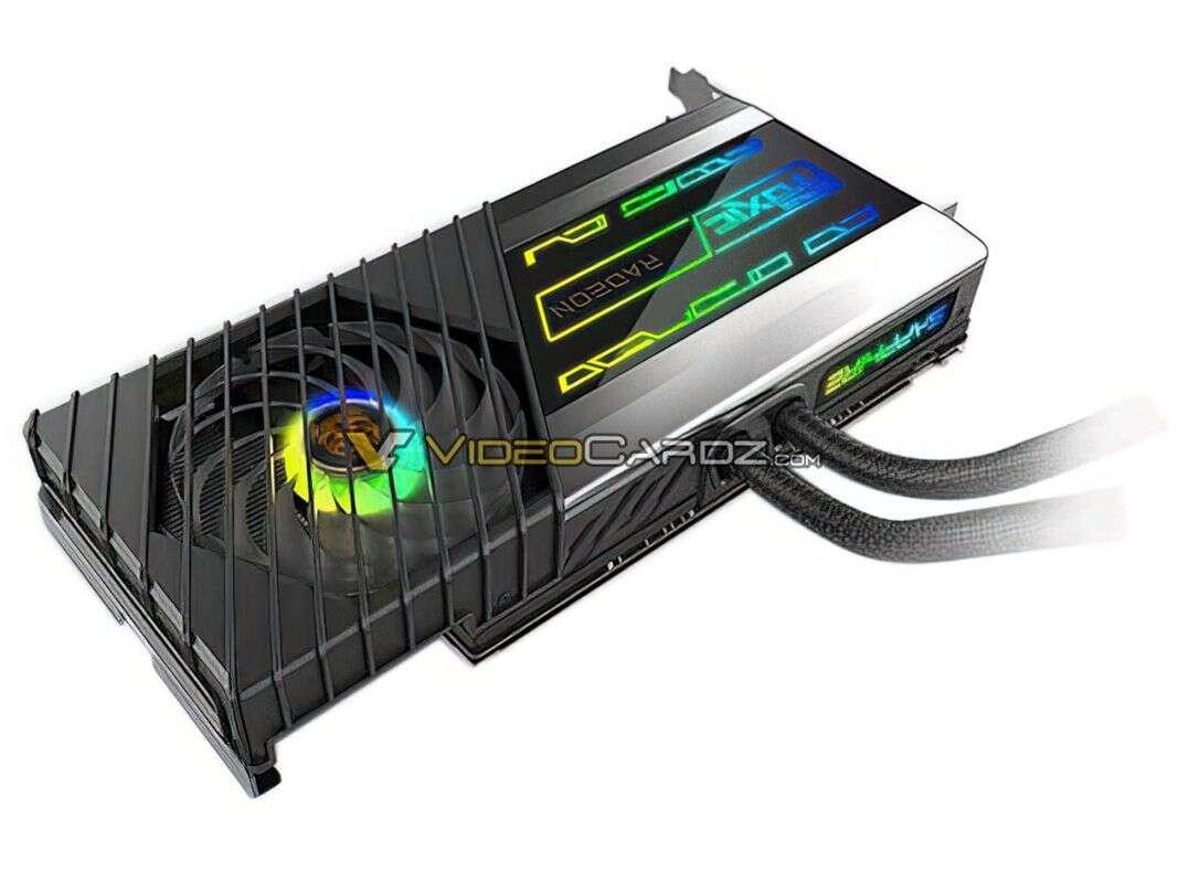 Kartę Sapphire Radeon RX 6900XT TOXIC chłodzi wielkie AIO