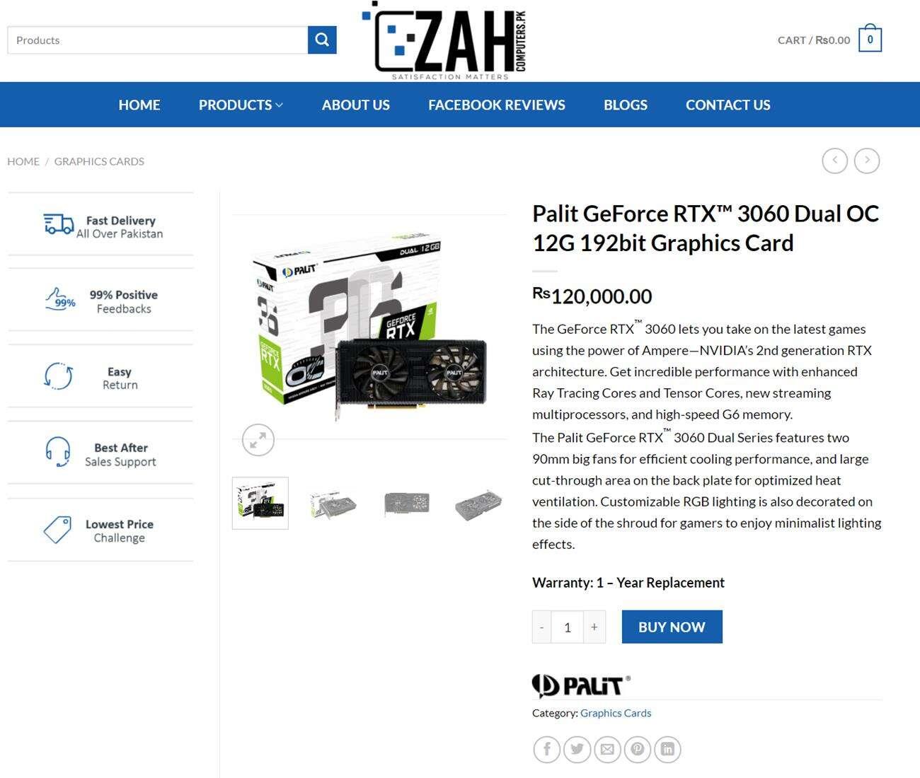 Nvidia GeForce RTX 3060 cena