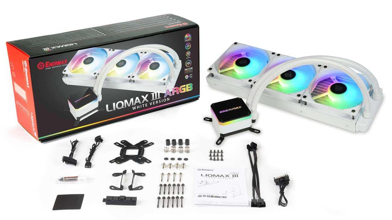 biały LIQMAX III ARGB 360