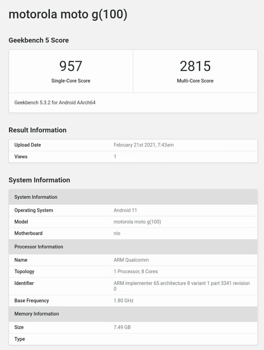 Motorola Edge S ze Snapdragonem 870 zadebiutuje w Europie jako Moto G100?