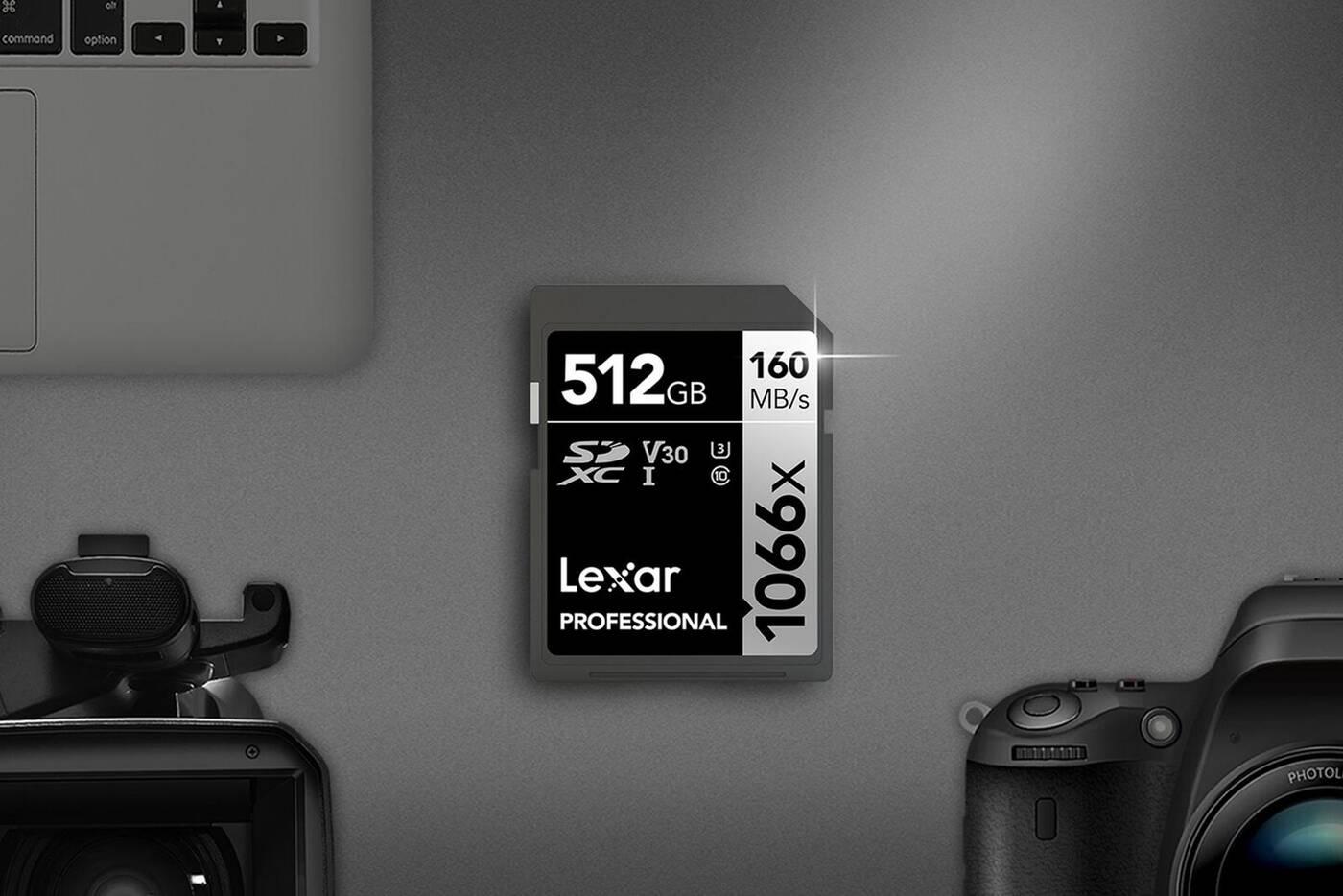 Nowe profesjonalne karty pamięci 1066x SDXC od Lexar