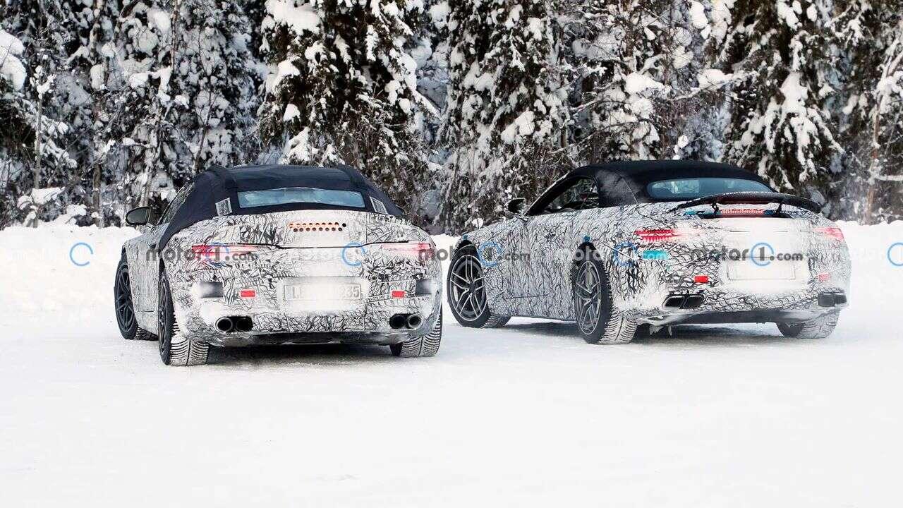 Nowe zdjęcia modeli Mercedes SL 2022 w testach