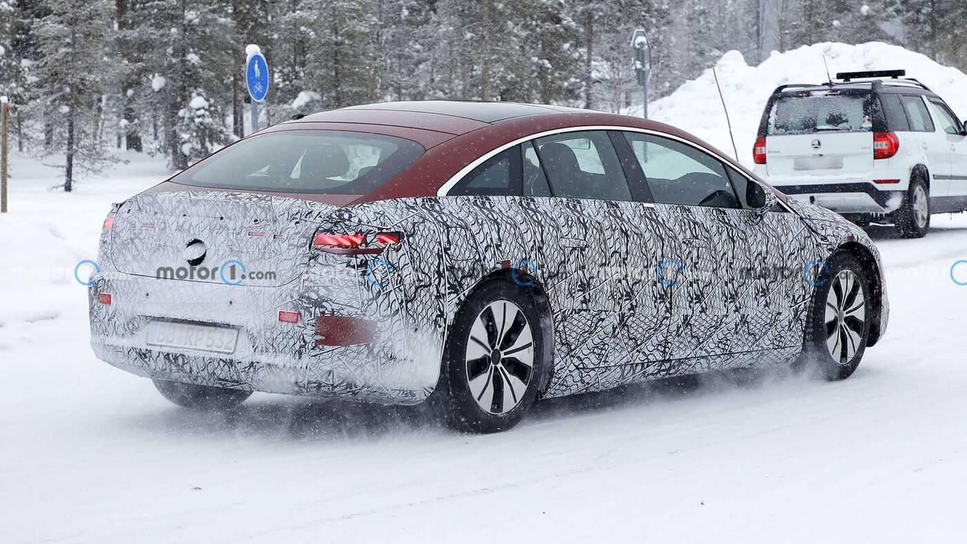 Nowe zdjęcia prototypu Mercedesa EQS 2022
