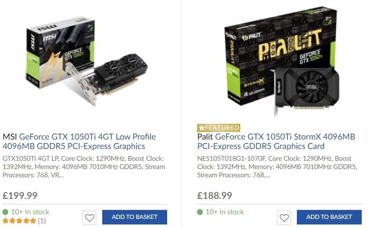 NVIDIA ruszyła z wysyłkami GeForce GTX 1050 Ti