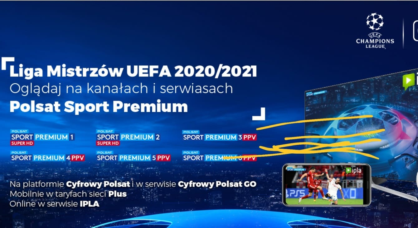 Liga Mistrzów, Polsat Sport Premium oraz IPLA