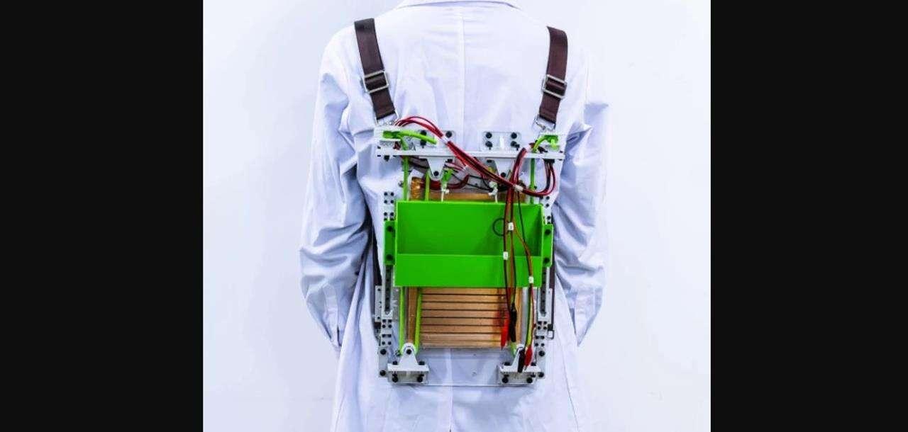 Takiego plecaka jeszcze nie było, Generuje prąd i zmniejsza wagę