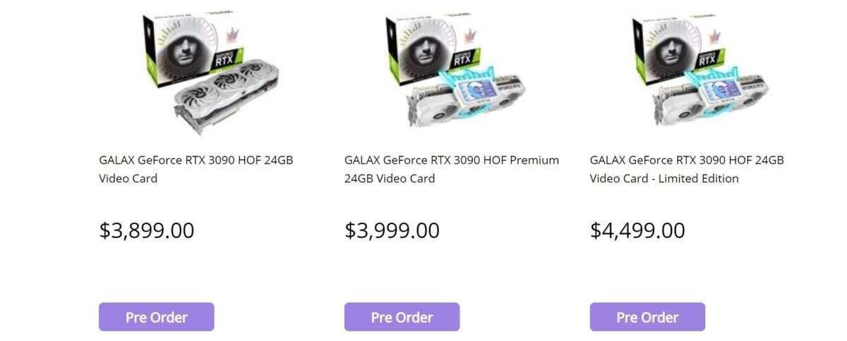Cena jednego z najlepszych GeForce RTX 3090 ujawniona