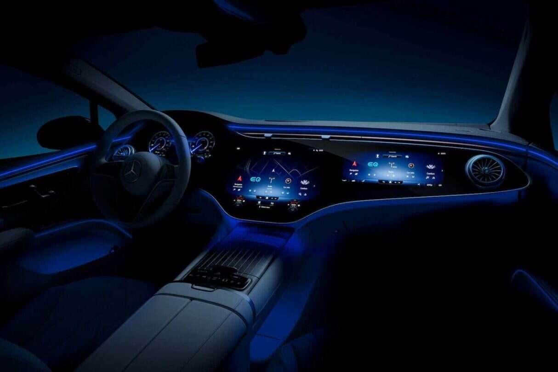 wnętrze Mercedesa EQS 2022, Mercedesa EQS 2022, kabina Mercedesa EQS 2022