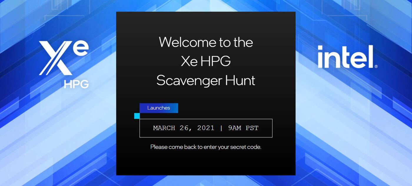Intel Xe-HPG Scavenger Hunt