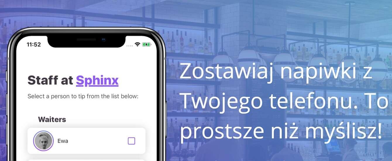 Aplikacja TipMe pozwoli wygodnie przekazywać napiwki
