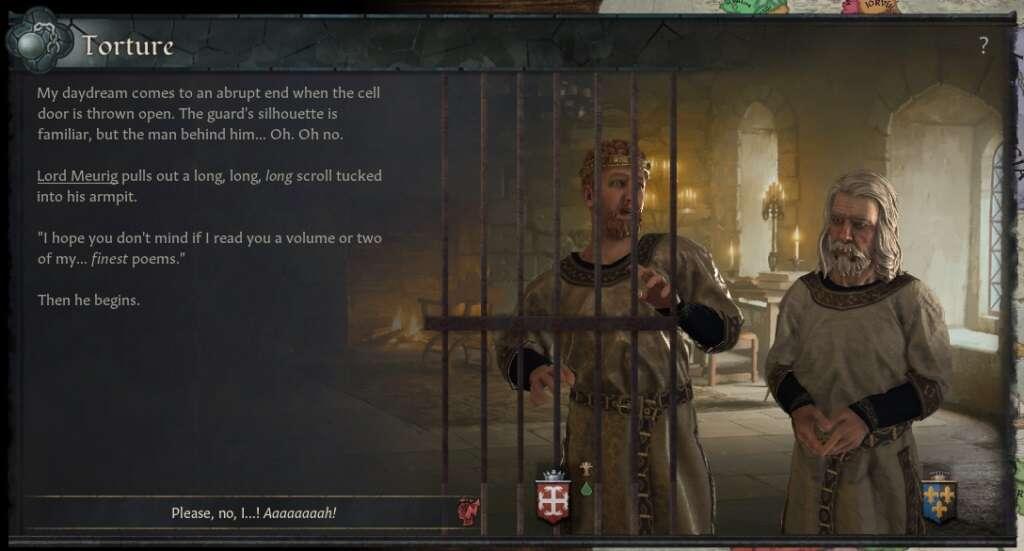 Crusader Kings 3 - nowa aktualizacja pozwoli na tortury... poezją