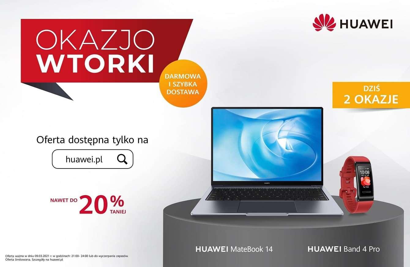 OkazjoWTORKI na huawei.pl - laptop i opaska sportowa w super promocji!