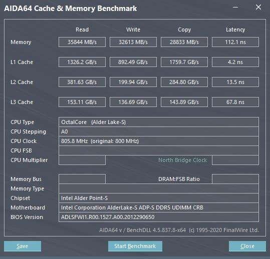 testy DDR5-4800 MHz