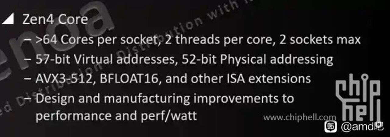 Procesory Zen 4 będą wyjątkowe dla AMD przez instrukcje AVX3-512