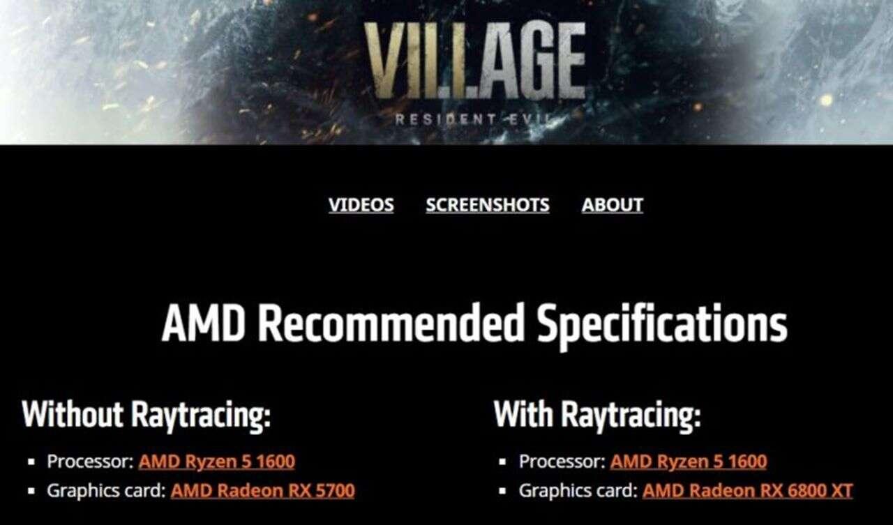 Ray-tracing w najnowszym Residencie, Ray-Tracing AMD
