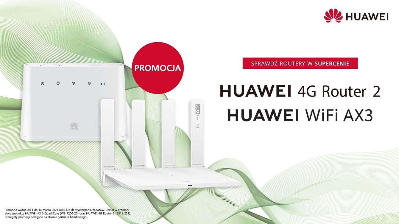 Wybrane routery Huawei w nowych, atrakcyjnych cenach