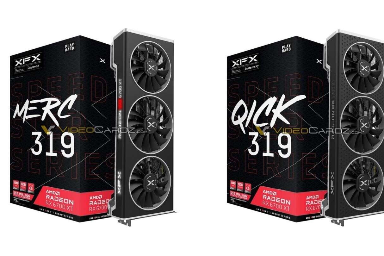 XFX Radeon RX 6700 XT, Radeon RX 6700 XT MERC319, Radeon RX 6700 XT QICK319