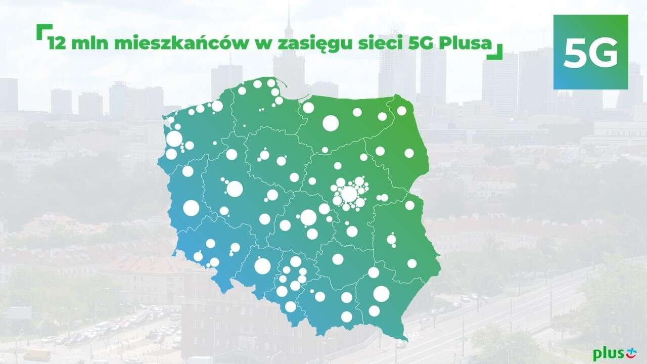 5G w Plusie - nowa lista miejscowości